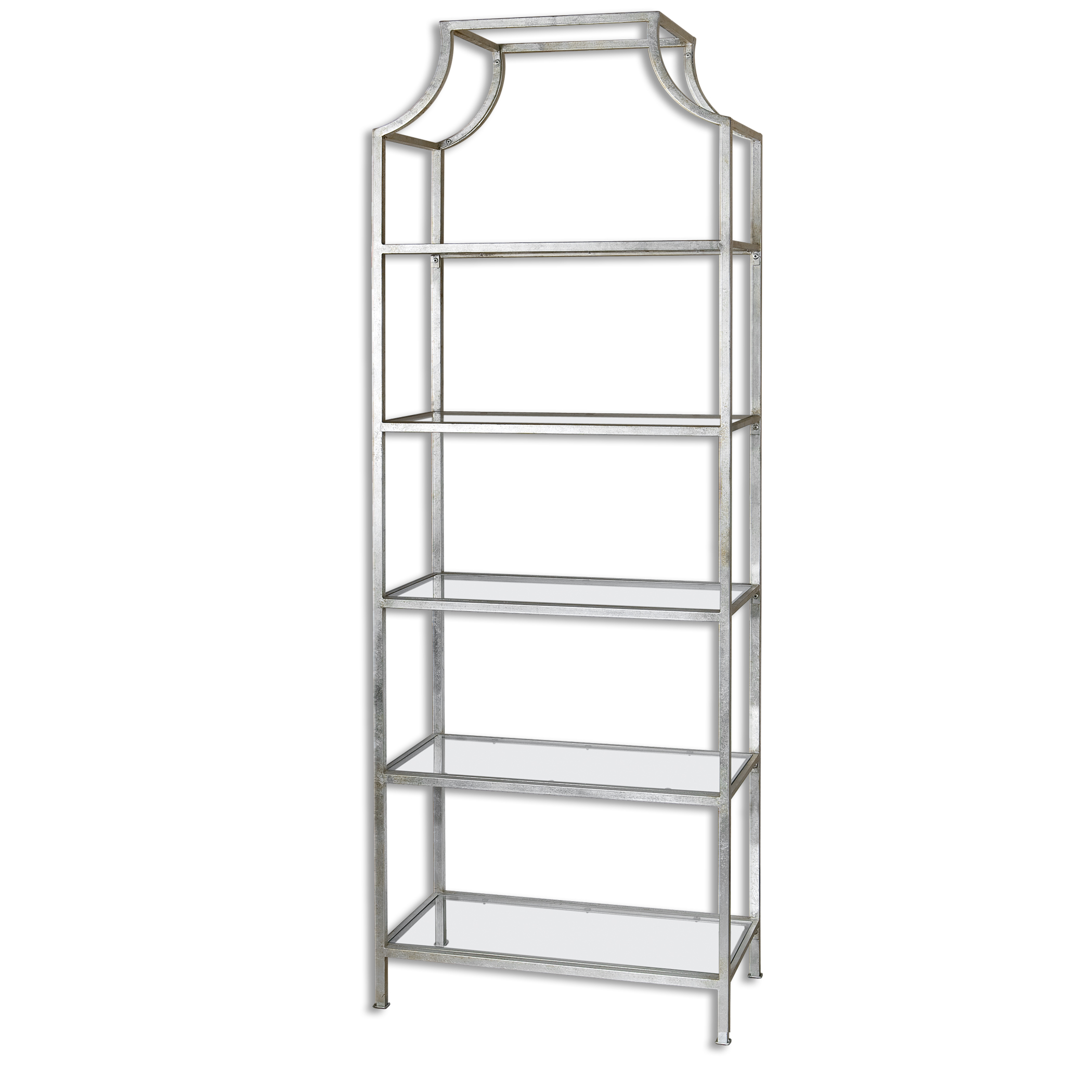 Minimalist Silver Arch Metal Etagere | Standing Book Shelf Modern ...