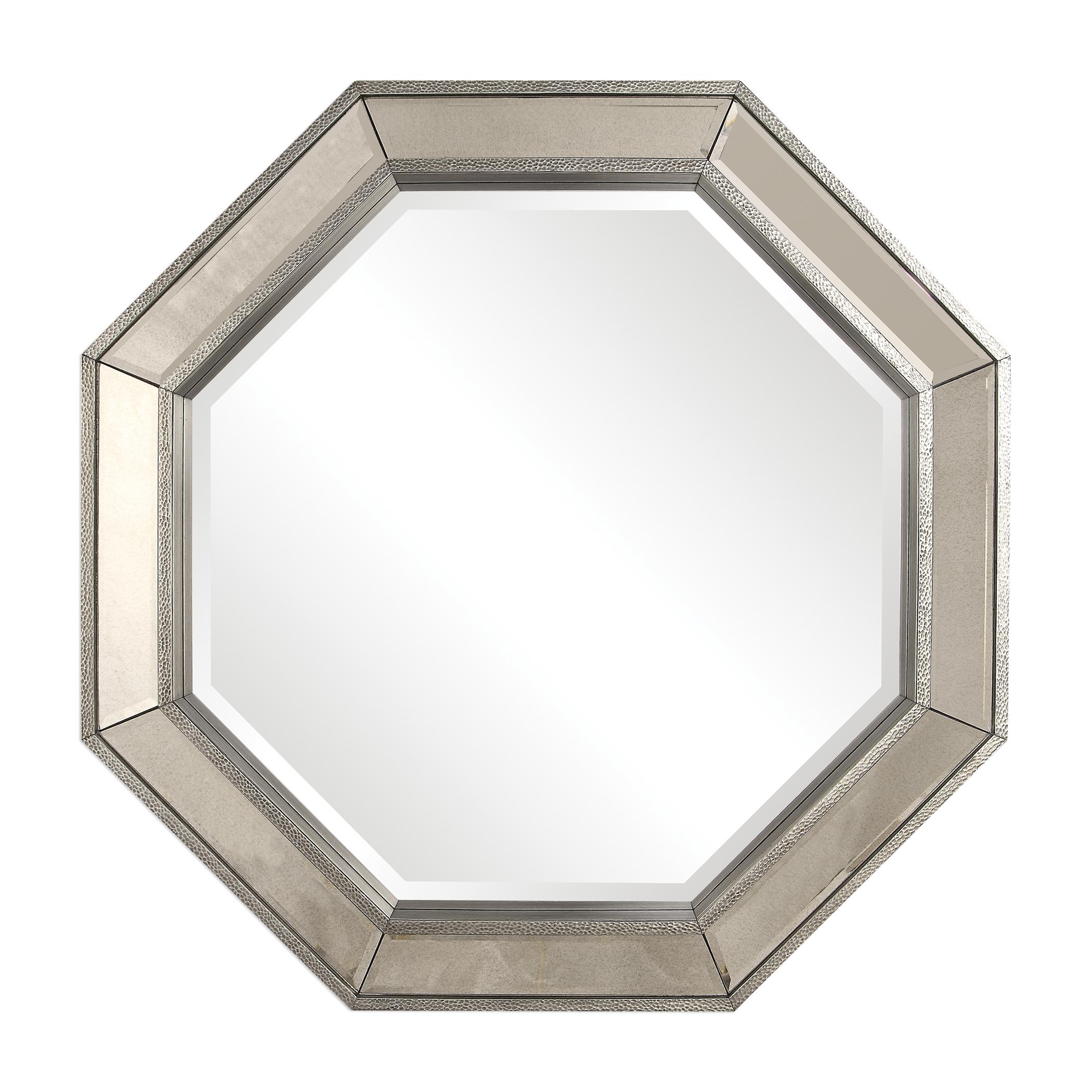 Glam-Octagon-Silver-Mirror-Framed-Wall-Mirror-38-034-Round-Venetian-Vanity-Classic